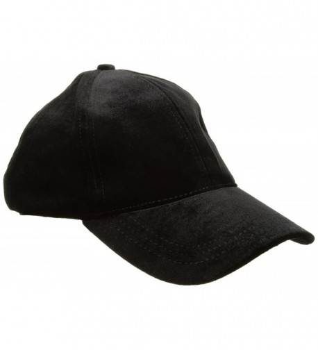 Steve Madden Women's Velvet Embroidered Baseball Cap - Black - CU183KD8WS3