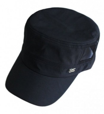 9ece313f9 Men Summer Quick-dry Mesh Thin Flat Top Military Army Sun Protect Buckle  Hat Cap Black CW12BB66H69