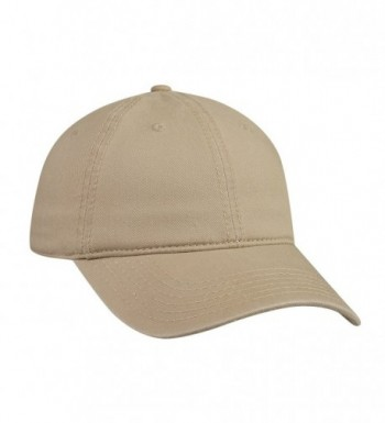 Cotton Twill Low Profile Caps - Khaki - CK11UZ3Y7VH
