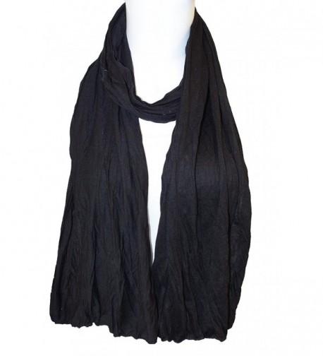 Plain Color cotton Scarf- Skinny Scarf - Black - CF17YDKU25A