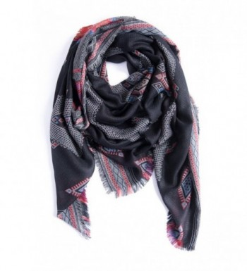 """Amymode Women's Scarf Elegant Exotic Style 55"""" X 55"""" western-inspired royal pattern - C912NS5E4TN"""