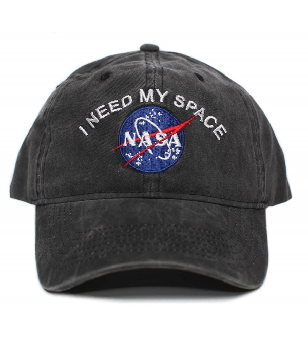 NASA I Need My Space Pigment Dye Embroidered Hat Cap Unisex Adult Multi - Black - CP188634TI5