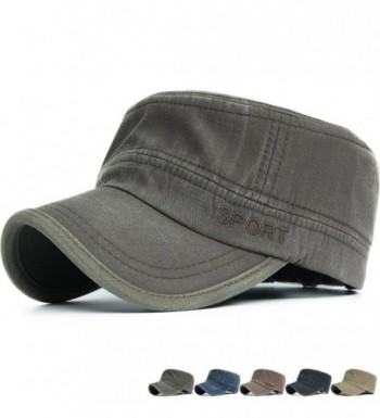 REDSHARKS Cadet Caps Military Hats Fit For Unisex Adult Sport Embroidery - Green - CH11YVEQXGN