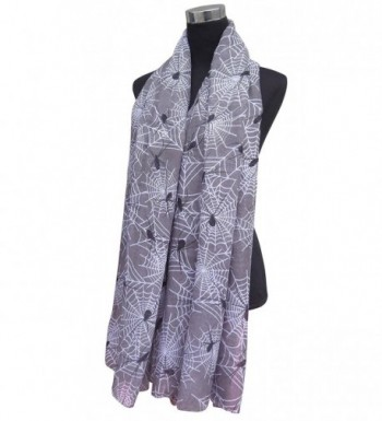 Lina Lily Halloween Spider Womens in Fashion Scarves