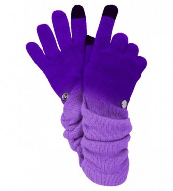 Purple Ombre Texting Gloves Scarf in Fashion Scarves