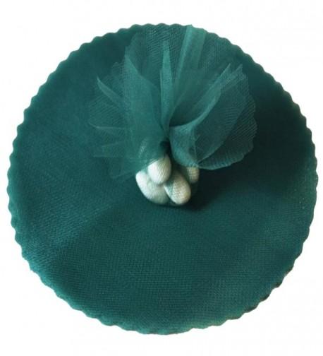 "100 Hunter Green Scalloped Tulle Circles 9"" Wedding Favor Wrap - C0114W1DYGR"