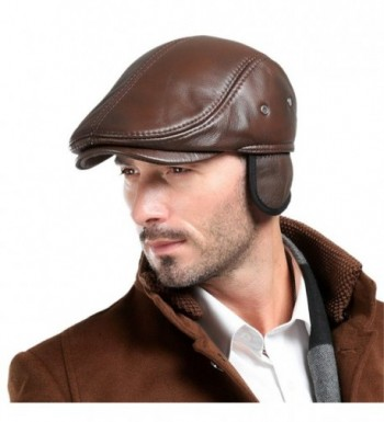 Vemolla Cowhide Leather Hunting Trucker