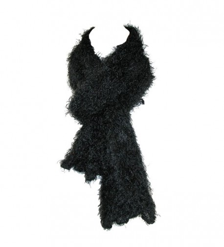 CTM Women's Magic Scarf Knit Hood Wrap Scarf - Black - CD112KU1ZQ3