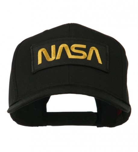 Black NASA Embroidered Patched High Profile Cap - Black - CC11MJ3RSQR