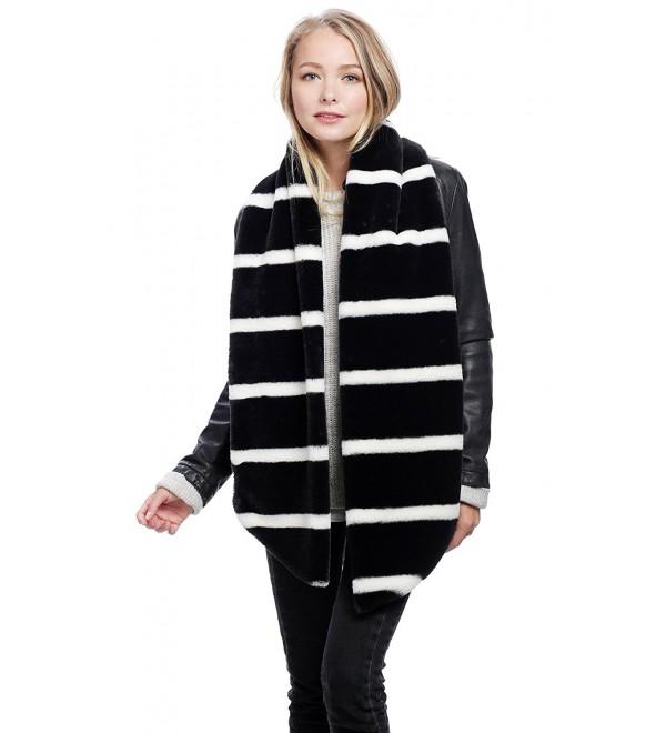 APPARELISM Women's Collection Open Front Sleeveless Long Faux Fur Vest - B.black - C6186NY9DIR