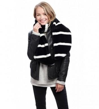 Apparelism Stripe Collar Warmer 7204 Black