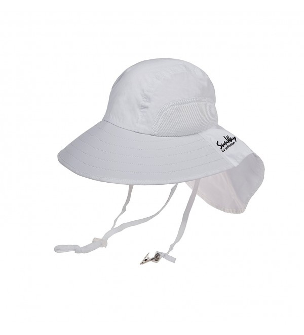 SunWay Sun Visor Wide Large Brim Hat UPF 50+ - White - CI12HRO6X9P