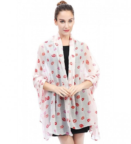 Lina Lily Print Womens Lightweight in Fashion Scarves