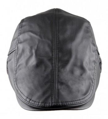 moonsix Newsboys Caps For Men-Beret Leather Hat Gatsby Flat Hats IVY Driving Cap - 1-black - CQ1880RO9DI