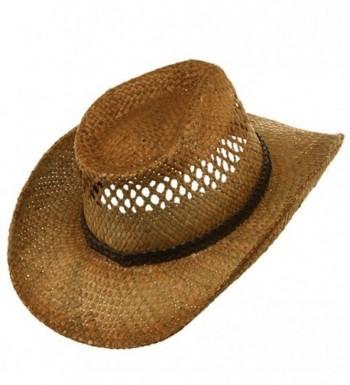 Vented Tea Stained Raffia Hat Regular in Women's Sun Hats