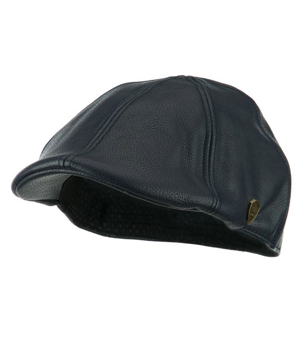 Pamoa Faux Leather Duckbill Ivy Hat - Navy - C311I67KTQB