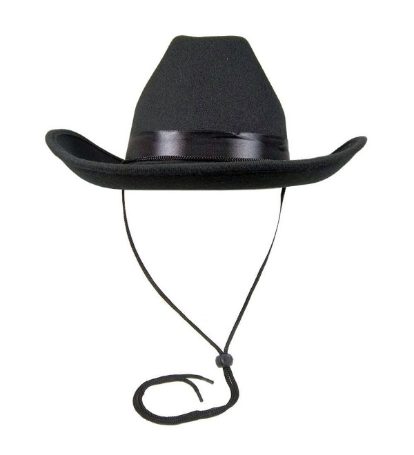 Adult Black Cowboy Cowgirl Deluxe Felt Hat Costume Accessory Western Sheriff - CL12MB6YOA3