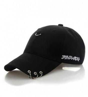 Kokkn K-Pop BTS Baseball Cap Bangtan Boys Iron Ring Snapback Hat Cotton Adjustable Hip Hop Dad Hat - Black - C9189XSNUSG