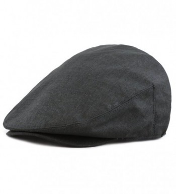 The Hat Depot New High Quality Linen Paisley Lining Cool Newsboy Ivy Hat - Black - C912ENUQ2VP