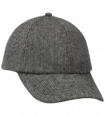 San Diego Hat Company Women's Tweed Cap - Black - CO11KYNAZXL