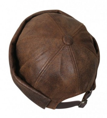 ililily Leather Beanie Winter Casual