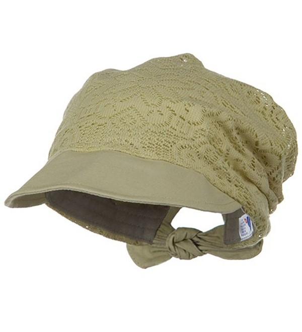 Ladies Jacquard Mesh Hat - Khaki - C31153M3YJB