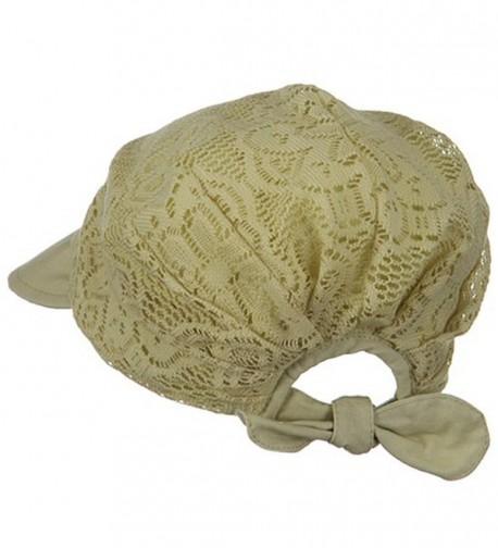 Ladies Jacquard Mesh Hat Khaki