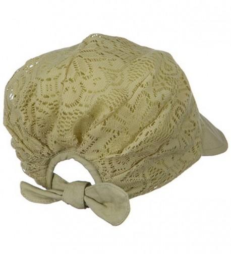 Ladies Jacquard Mesh Hat Khaki in Women's Sun Hats
