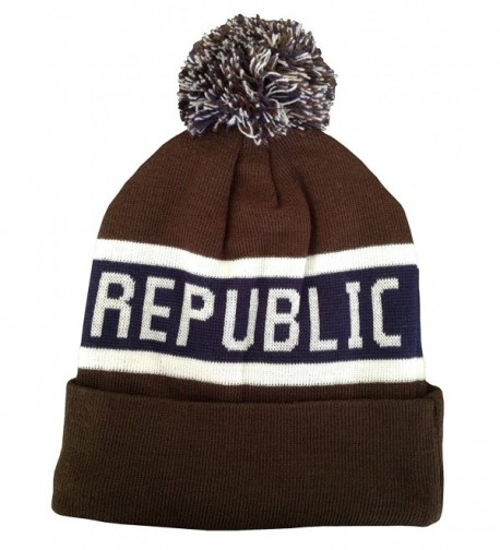 California Republic Embroidered Knitted Cuffed