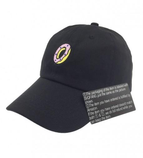 Donut Hat Baseball Cap Dad Hats Embroidered Floppy For Men Women Unstructured - Black - C4185EX4094