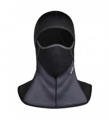 ROTTO Balaclava Ski Mask Motorcycle Cycling Thermal Windproof and Waterproof - Black-b(no Zipper) - C0189Y9XMW2