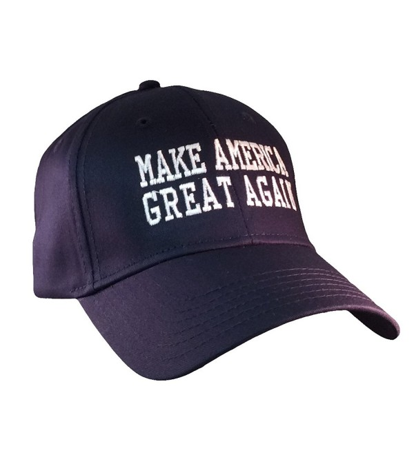 Republican Nation Make America Great Again Donald Trump Hat-Navy With White Embroidery - C712MCJ4PEF