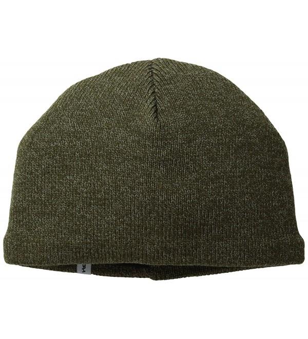 Turtle Fur - Men's N.E. Solid Ragg- Fleece Lined Ragg Wool Beanie - Oregano - C811CXBIWI3