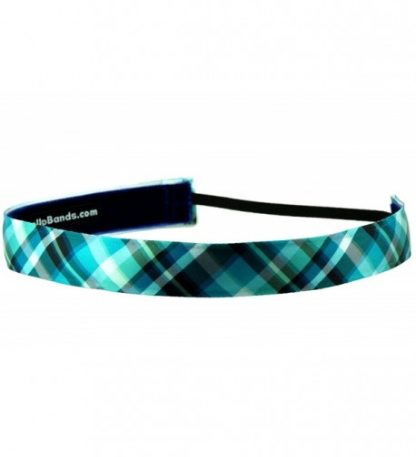 One Up Bands Women's Plaid Blues One Size Fits Most - C811K9XBPDL