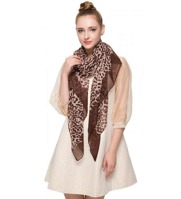 Aoloshow African Leopard Print Scarf with Panther Face Fashion Shawl Lightweight - B - CH124TPMKY7