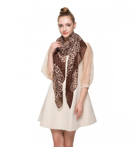 Aoloshow African Animal Leopard Fashion in Fashion Scarves