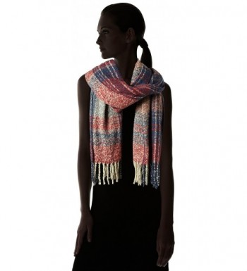 Fiorentina Womens Oversized Plaid Fringe in Cold Weather Scarves & Wraps