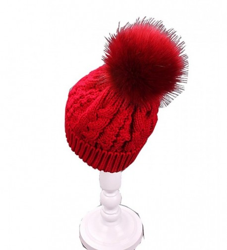 Tongbuy Beanie Hat Scarf Set Skull Cap Winter Fleece Lined Knit Hat Thick For Men/Women - Red-pp - CT186XZSUED
