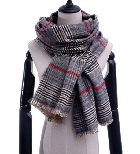 Stylish Blanket Oversized Scarves Winter - Light Grey - CO1872UXEUC