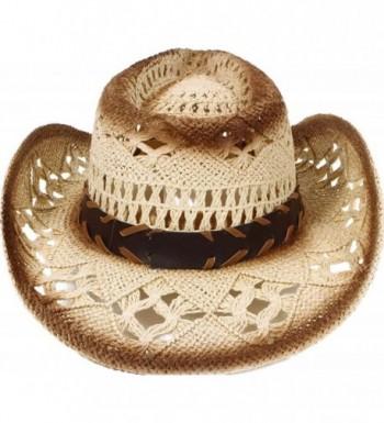 Classic Western Cowboy Summer Emblem in Men's Cowboy Hats