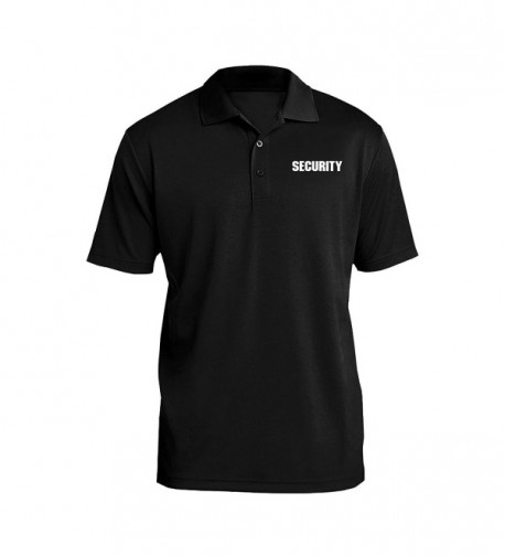 UGP Campus Apparel Security Bouncer Poly Men's Polo - Black - C8187WOTW7X