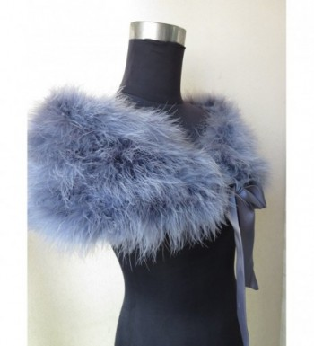 ostrich feather scarf bride accessories