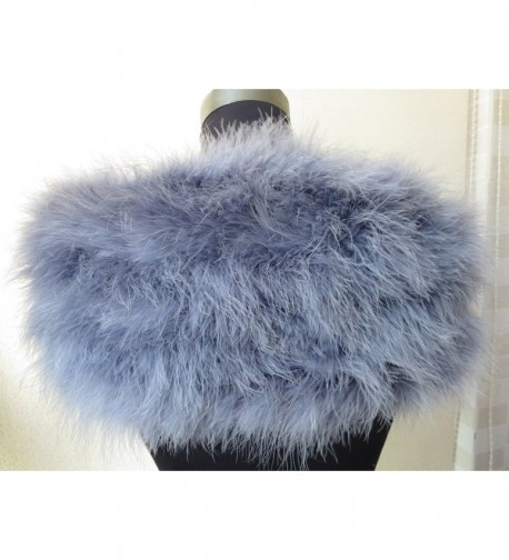 ostrich feather scarf bride accessories in Fashion Scarves
