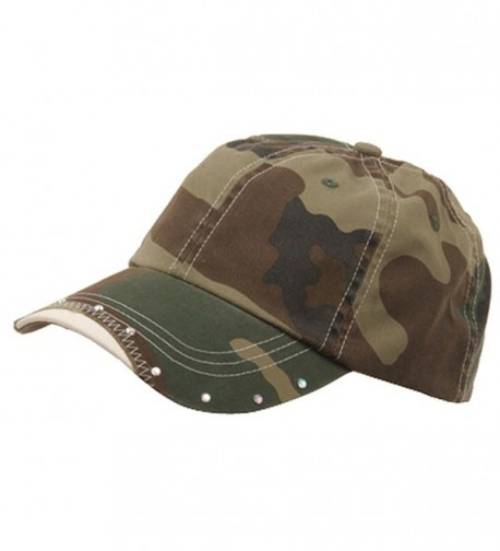 Rhinestone Washed Cotton Cap-Camo - CG111QRKUDF