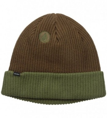 Volcom Men's 2-Tone Sweep Beanie - Teak - C712EDU3IWB
