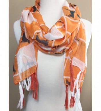Orange Squares Fringe Tassel Lightweight