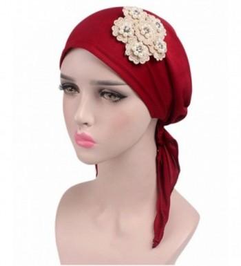 Womens Ruffle Beanie Turban Headwear