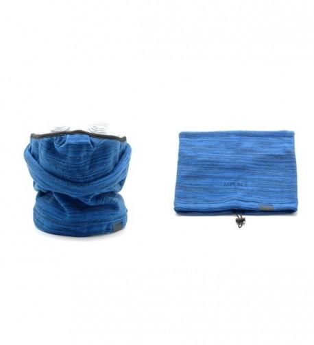 Fleece Mask Neck Warmer BLUE-Winter Outdoor Sports Neckgaiter Facemask Scarf Bandana - C912864GO3F