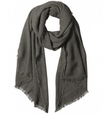 Bench Women's Adjourn Lightweight Oversized Scarf - Smoked Pearl - C612G55UPXR