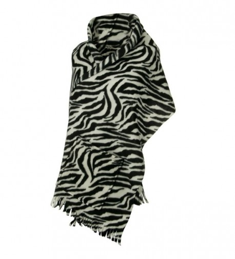 Fleece Scarf with Pockets - Black Zebra OSFM - C21108H8G17